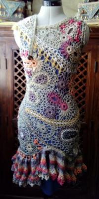 Travail sur mannequin : Technique Free Form Crochet : Eté