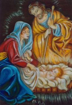 Famille à Noël pour le réveillon