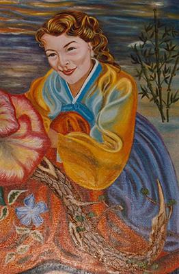 Autoportrait en tenue Coréenne